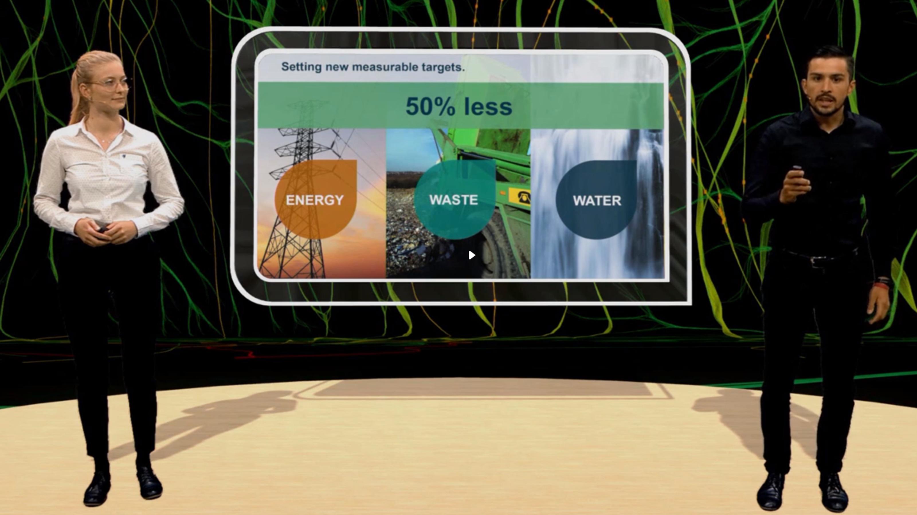 Virtual presentation: We clarify our 50/50/50 sustainability goals