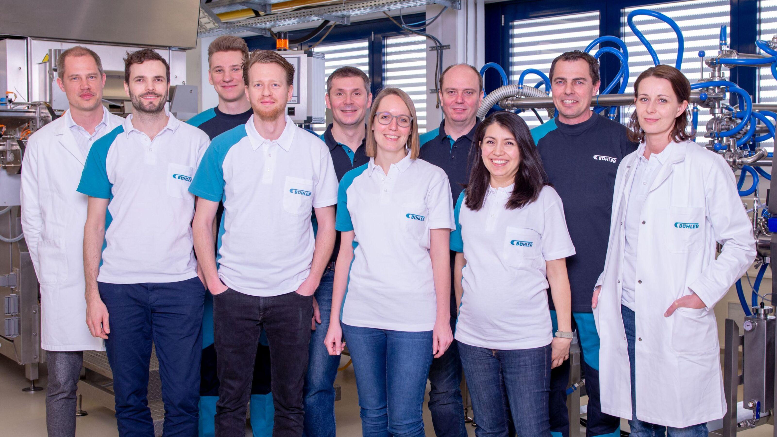 Bühler trainer and expert team.